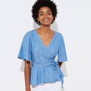ANN TAYLOR LOFT chambray blouse